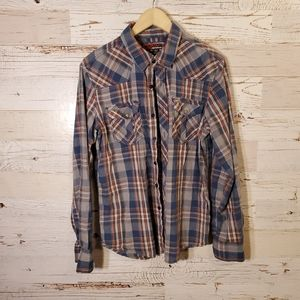 Distortion full button-down top